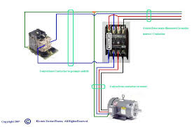 wiring diagram for three phase motor Single Phase Contactor Wiring Diagram show wiring schematic for three phase air compressor single phase 2 pole contactor wiring diagram