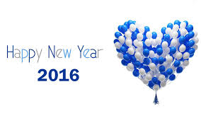 new year wallpaper 2016. Simple 2016 Happy New Year 2016 Blue And White Heart Balloons Picture To Wallpaper