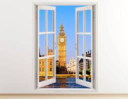 big ban wall decal vertical 3d window