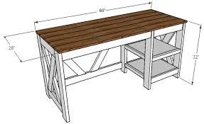 office desk diy. DIY Office Desk Plans For The Home Diy