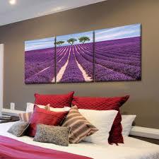 lavender field printed canvas wall art