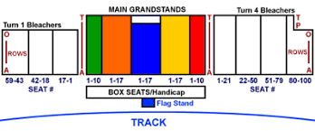 Silver Dollar Chart Seating Map Silver Dollar Speedway