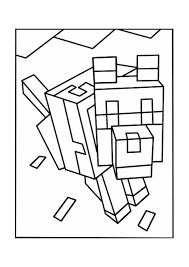 Minecraft wolf coloring pages 2