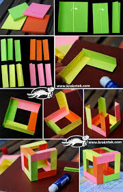 3d cube made of 12 diffe coloured sheets