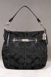 Coach Logo In Monogram Small Black Totes DCJ  bagpro 746  -  61.99   Coach  Outlet-Coach Factory Outlet Store Online