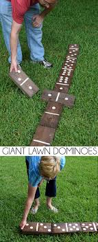 Wooden Lawn Games Giant Lawn Dominoes Dream a Little Bigger 85