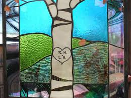 stained glass window panel birch tree and 50 similar items il fullxfull 745291497 tgi8