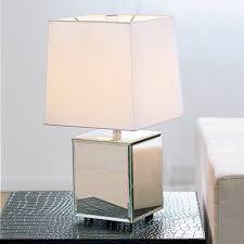 mirror lamp. theme: mirrored / west elm cube mirror lamp a