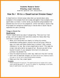 Examples Of Classification Essay Division Writing Essays Best Pi