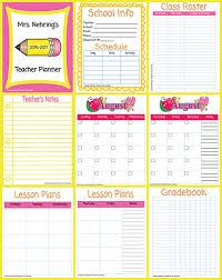 Planner Sheet Printable Teacher Planner Scholastic