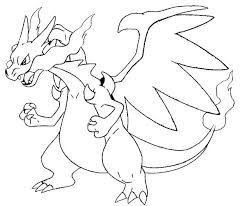 Small Picture Pokemon Coloring Pages Mega Charizard X Coloring Pages