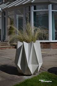 items similar to kronen large origami warm grey concrete designer planter on