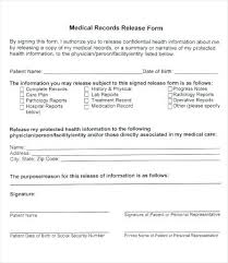 Sample Medical Records Release Form Inspiration Medical Disclosure Form Template