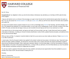 5 Harvard Acceptance Letter Intern Resume Cover Letter Example