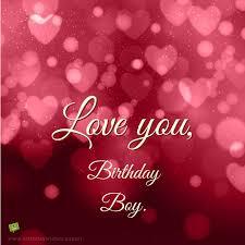 i love you birthday boy