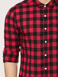 Chex Shirt Design Buy Koovs Red Buffalo Check Shirt For Men Online In India