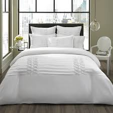 city scene diamond pintuck white 3 piece duvet cover set