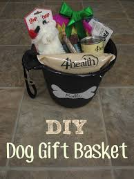 diy gift basket idea for dogs for or for use at a raffle or