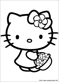 Hello Kitty Coloring Pages On