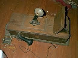 antique vintage wooden wall crank phone parts repair