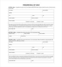 nc bill of sale form free 10 sample bill of sale for firearms pdf