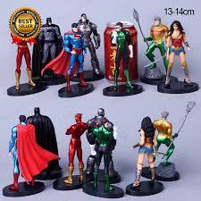 7PCS Justice League Action Figure <b>Superman</b> The Flash <b>Batman</b> ...