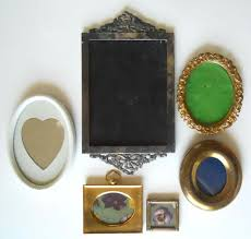 6pc vintage small wall picture frame lot victorian spain miniature white oval 1878507571
