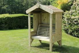 luxury wooden garden seating arbour 3