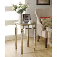 24 Inch Round Table table magnificent bella mina antiqued mirrored accent table glass 6230 by xevi.us