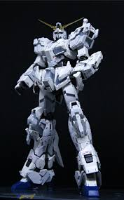 Painted Build Rg 1 144 Unicorn Gundam Destroy Mode