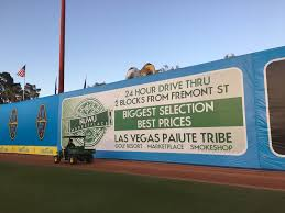 this nuwu dispensary sign was removed from the las vegas lights game saay and will be updated with a new message for a june 2 home game