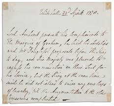 lot detail french and n war commander lord jeffrey amherst  french and n war commander lord jeffrey amherst autograph letter signed written in third