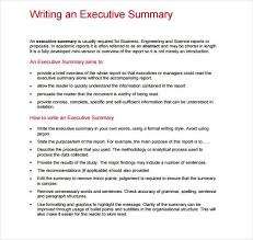 How To Create An Executive Summary In Word Executive Summary Template 2 3997157114201 Executive Report