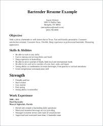 sample bartender resume example of bartender resume wikirian com