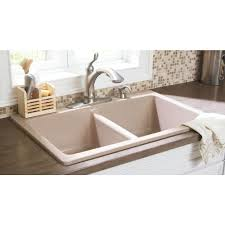 Composite Granite Kitchen Sinks Glacier Bay Waterbrook Dual Mount Composite Granite 33 In 4 Hole