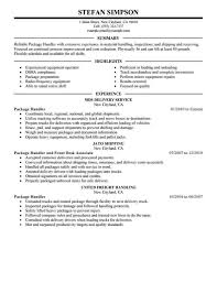 Resume For Packaging Job Driver Mover Job Description And Packaging Job Description For 18