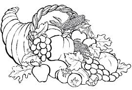 Cornucopia Coloring Printables Pages To Print