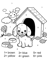 Add color to pictures of your favorite animals, interesting objects, yummy food, fun activities, vacation spots. Free Printable Color By Number Coloring Pages Best Coloring Pages For Kids Puppy Coloring Pages Dog Drawing For Kids Preschool Coloring Pages