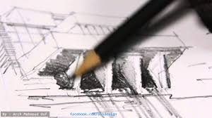 Architecture rough sketch drawing YouTube