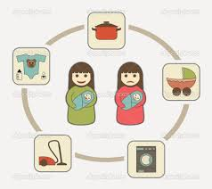 mom s duties housekeeping and maternity infographic vector mom s duties housekeeping and maternity vector by yapanda