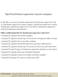 Lunch Supervisor Resume Sample top224lunchroomsupervisorresumesamples224lva224app622492thumbnail24jpgcb=2242435933909 1