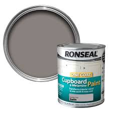 Rating Kitchen Cabinets Ronseal Granite Grey Satin Cupboard Paint 750 Ml Departments