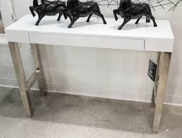 tura console table white lacquer by moe's home  high gloss white