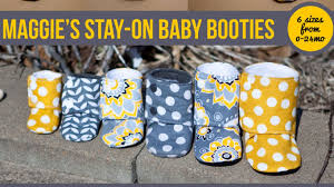 Baby Booties Sewing Pattern Impressive Maggie's Stay On Baby Booties Sewing Tutorial YouTube