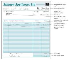Examples Of Tax Invoices Inspiration Tax Invoices Running A Business