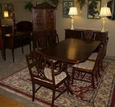 plete 1930s walnut dining room set Dining Room