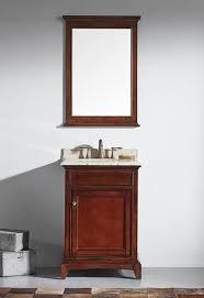 Eviva Evvn709 24tk Elite Stamford 24 Inch Brown Solid Wood Bathroom