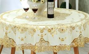 round plastic table covers outstanding gold material plastic lace tablecloth china factory inside heavy duty