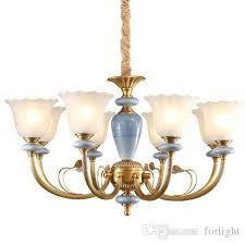 european style chandelier lamp classic copper luxury hotel engineering restaurant living room lights macarons copper art pendant lighting living room