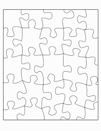 Puzzle Template 20 Pieces | Pandebeng.org
